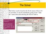 the solver11