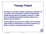 therapy patient