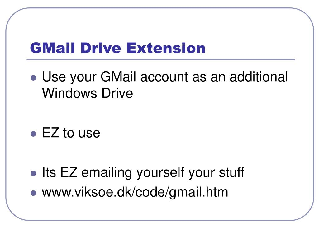 GMail Drive Extension