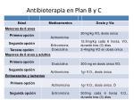 antibioterapia en plan b y c