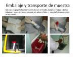 embalaje y transporte de muestra