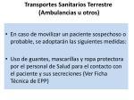 transportes sanitarios terrestre ambulancias u otros