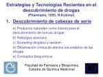 estrategias y tecnolog as recientes en el descubrimiento de drogas pharmazie 1995 h kubinyi