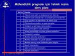 m hendislik program i in teknik resim ders plan