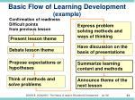 basic flow of learning development example