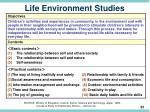 life environment studies