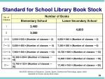 standard for school library book stock