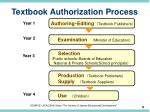 textbook authorization process