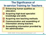 the significance of in service training for teachers