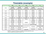 timetable example