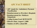 apc fact sheet
