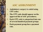 asc assignment