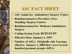asc fact sheet
