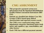 cmg assignment