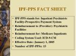 ipf pps fact sheet