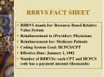 rbrvs fact sheet