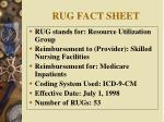 rug fact sheet