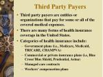 third party payers