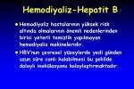 hemodiyaliz hepatit b