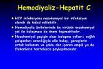 hemodiyaliz hepatit c