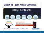 district 82 semi annual conference