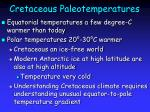 cretaceous paleotemperatures