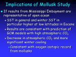 implications of mollusk study
