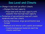 sea level and climate