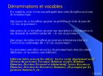 d nominations et vocables11
