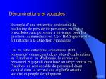 d nominations et vocables17