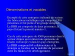 d nominations et vocables18