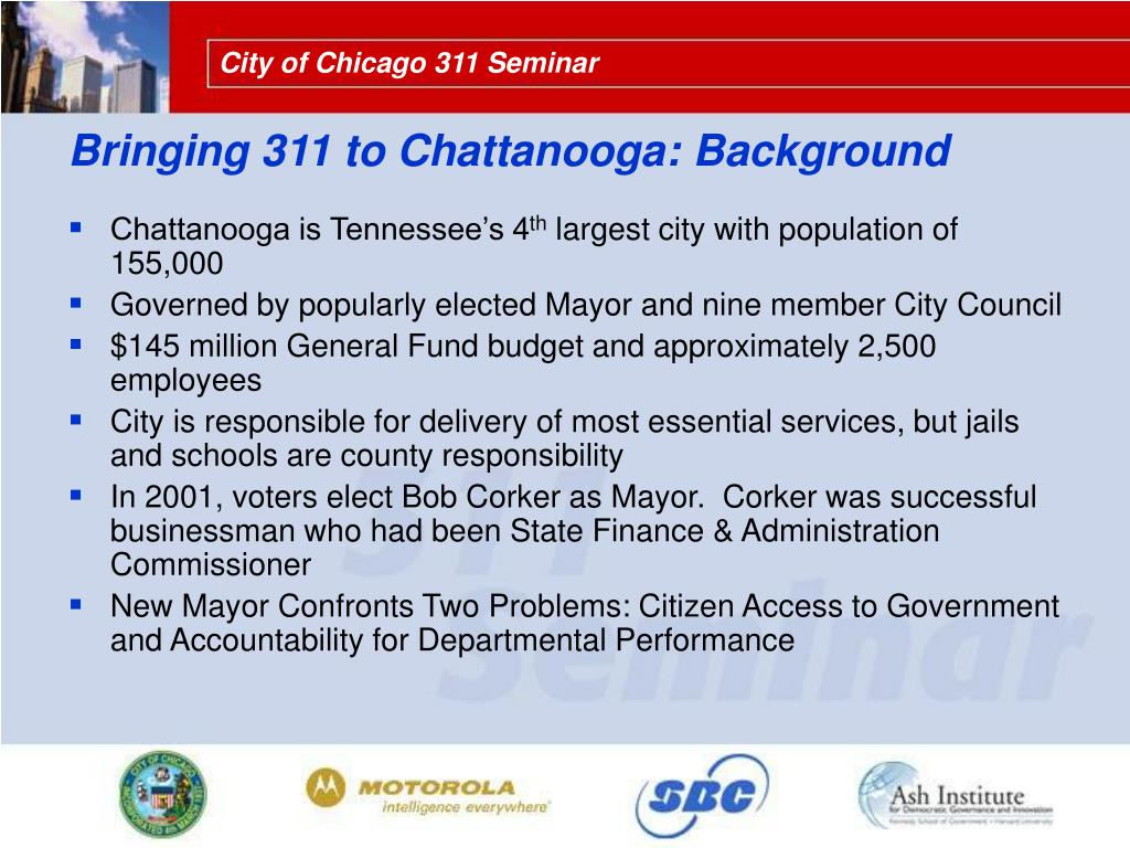 Bringing 311 to Chattanooga: Background