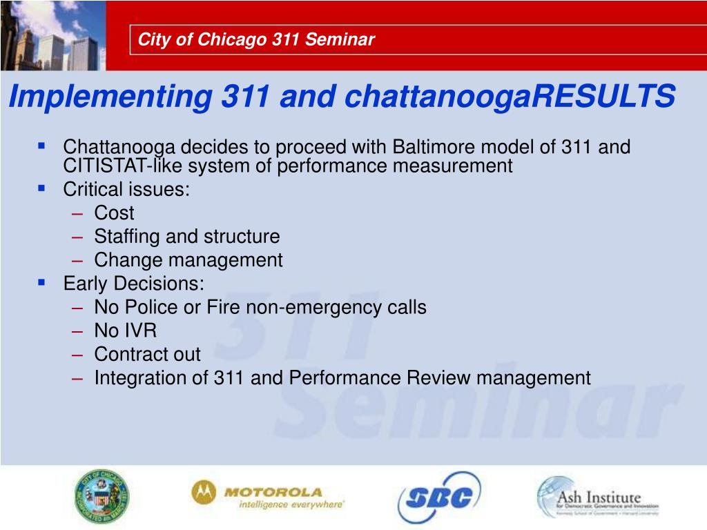 Implementing 311 and chattanoogaRESULTS