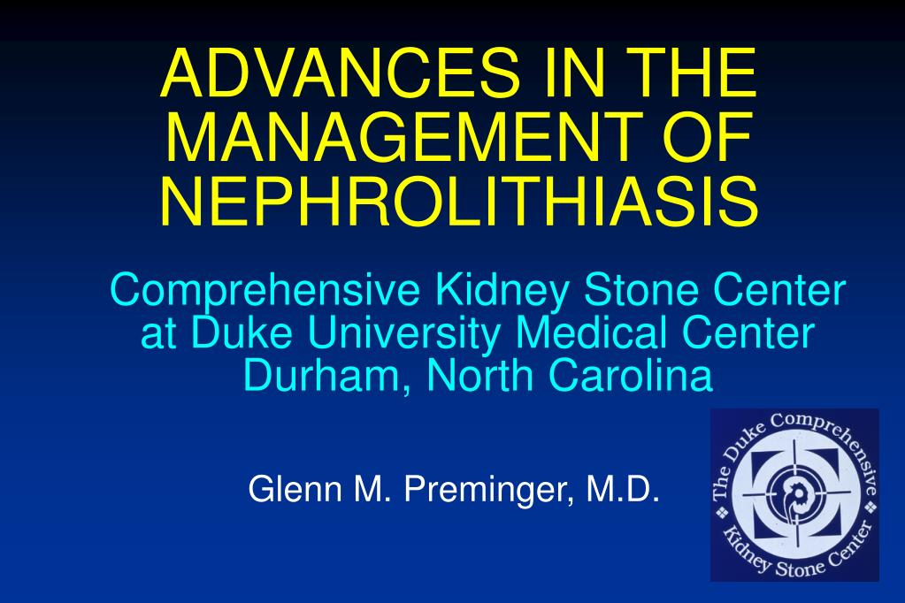 advances in the management of nephrolithiasis l.