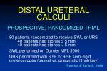 distal ureteral calculi62