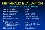metabolic evaluation91
