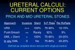 ureteral calculi current options
