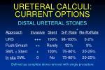 ureteral calculi current options73