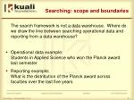 searching scope and boundaries