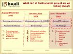 what part of kuali student project are we talking about