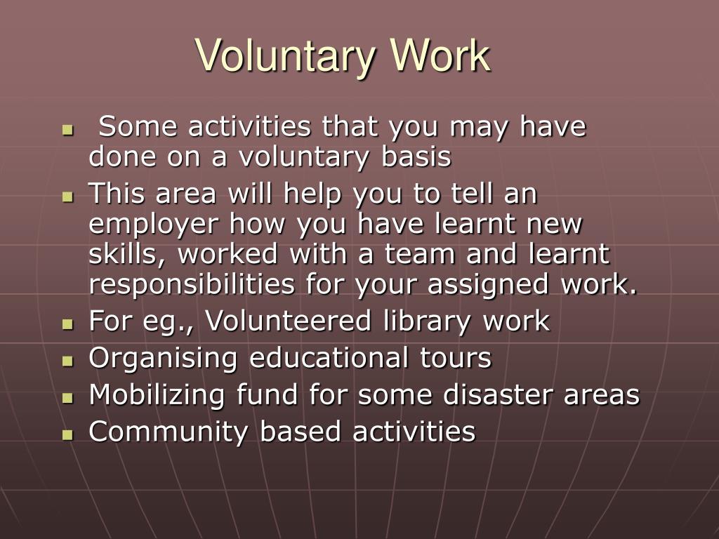 Voluntary Work