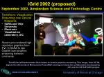 igrid 2002 proposed september 2002 amsterdam science and technology centre21