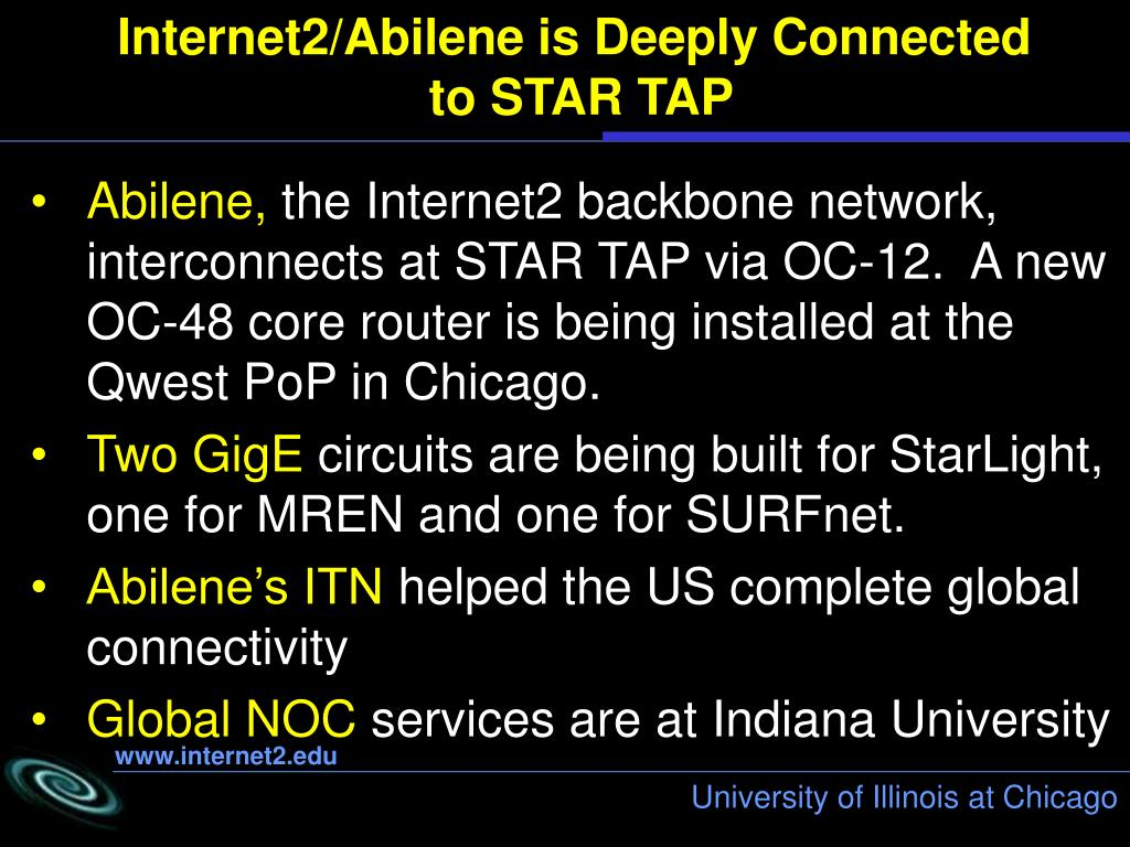 Internet2/Abilene is Deeply Connected