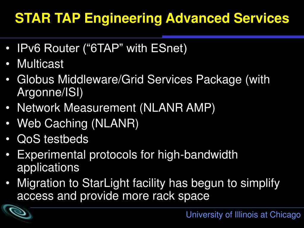 STAR TAP Engineering Advanced Services