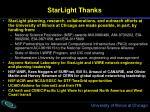 starlight thanks