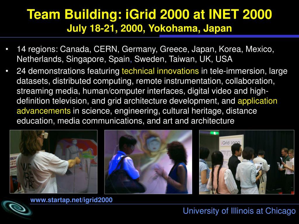 Team Building: iGrid 2000 at INET 2000