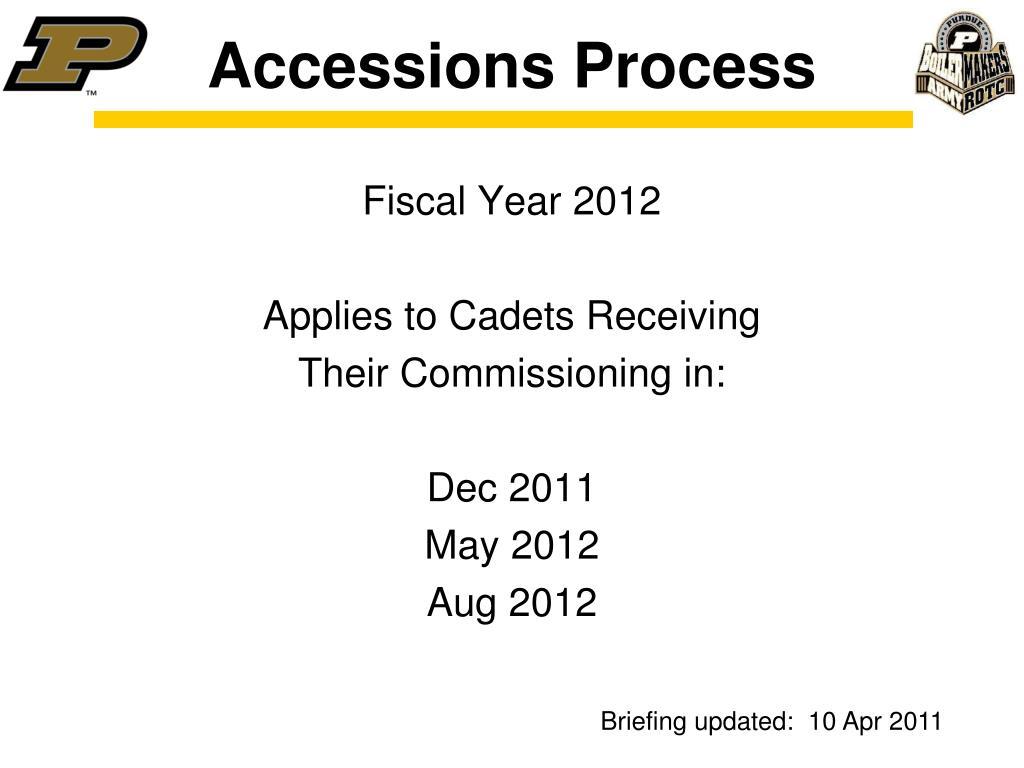 accessions process l.