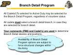 branch detail program
