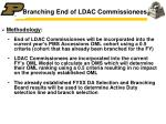 branching end of ldac commissionees