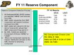 fy 11 reserve component